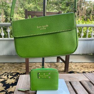 Kate Spade Lime Green Purse w/ Matching Wallet